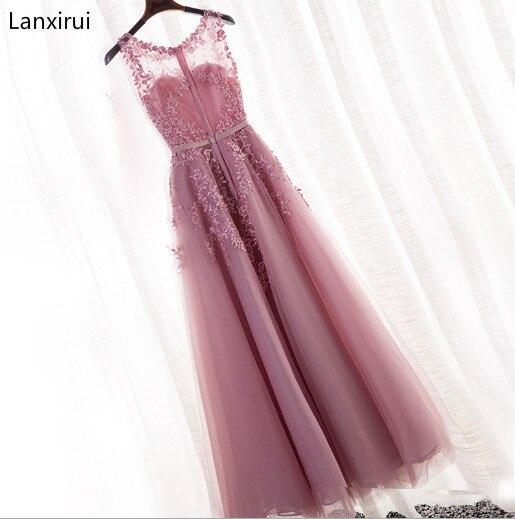 New Arrival 2019 party Dress Scoop Sleeveless Cheap Chiffon A Line Dress Floor Length vestidos de fiesta de noche