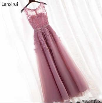 New Arrival 2019 party Dress Scoop Sleeveless Cheap Chiffon A Line Dress Floor Length vestidos de fiesta de noche - DISCOUNT ITEM  5% OFF All Category