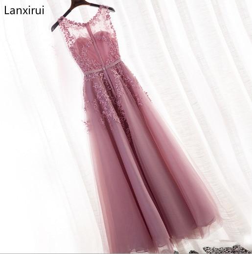 Nouveauté 2019 robe de soirée Scoop sans manches pas cher en mousseline de soie une ligne robe longueur de plancher vestidos de fiesta de noche