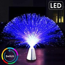 CLAITE Multicolor LED Fiber Optic Light Night Lamp Holiday Christmas Wedding Home Decoration Nighting Lighting Lamps(China)