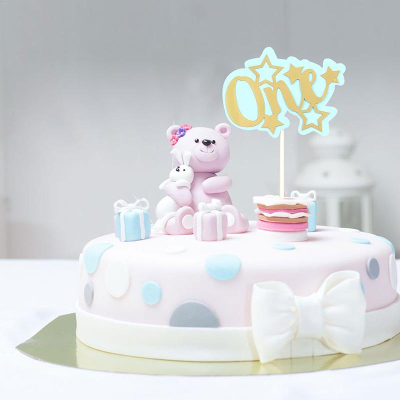 Astonishing First Birthday Cake Topper Decoration Double Star Card Party Personalised Birthday Cards Veneteletsinfo