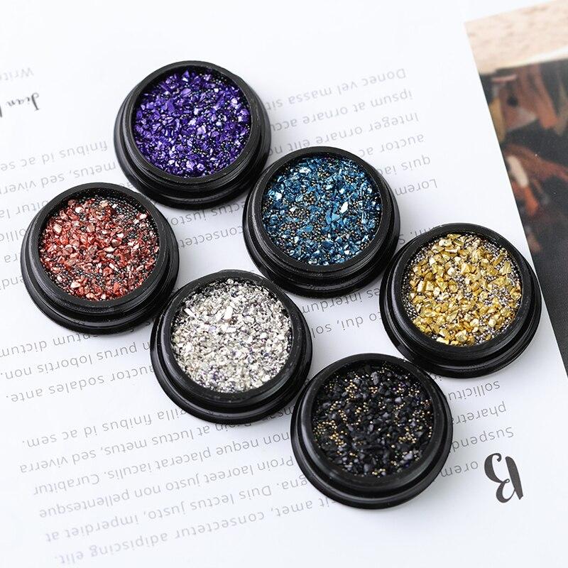 Nail Art Decorations Mixed Glitter Mini Pearl Zircon Box 3D Manicure Accessory Metal Shell Stone Rhinestones Jewelry For Boards