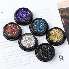 Nail art decorations mixed glitter Mini pearl Zircon box 3D manicure accessory metal shell stone Rhinestones jewelry for boards
