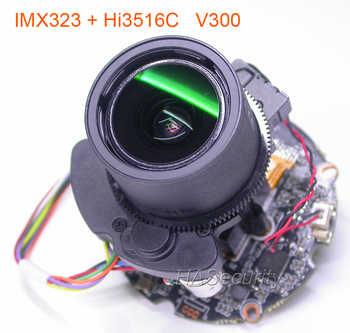 """H.265 H.264 motorized 2.8-12mm Zoom & Auto Focus LENs 1/2.9\"""" SONY Exmor IMX323 CMOS Hi3516C V300 CCTV IP camera PCB board module - SALE ITEM Security & Protection"""