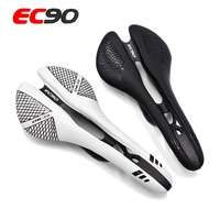 EC90 New Carbon Road Bicycle Saddle Hollow Full Carbon Mountain Bike Saddle / Seat / Carbon Mtb Saddle & Leather