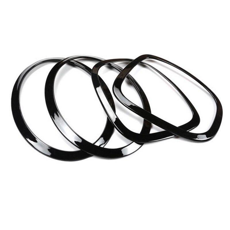 Jxlclyl 4pcsset Headlight Taillight Surround Rim Trim Ring For Mini