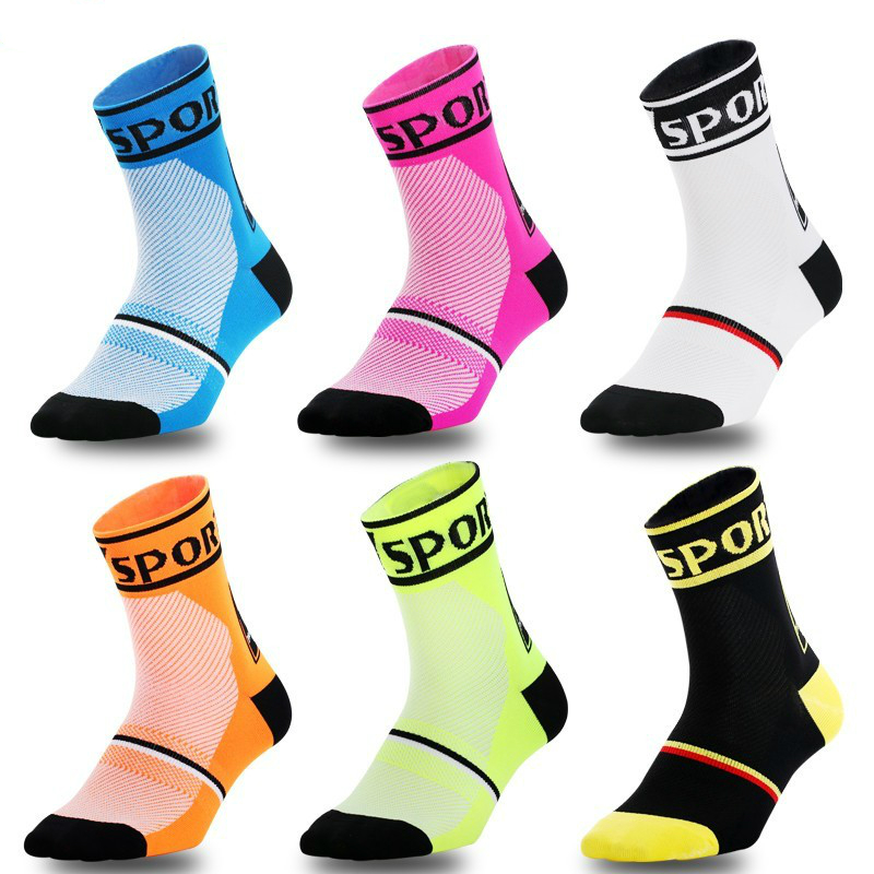 REXCHI Professional Cycling Socks Men Women Sports Anti-slip Breathable Compression Road Bicycle Socks Outdoor Racing Bike