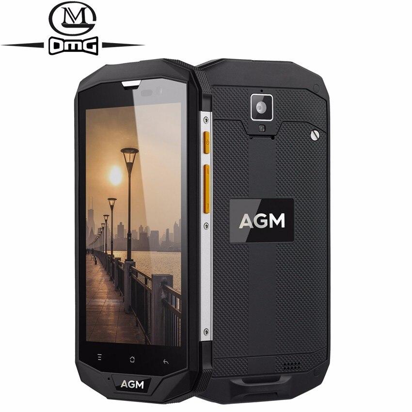 AGM A8 IP68 étanche antichoc téléphone Mobile Android 7.0 4 GB + 64 GB Qualcomm MSM8916 Quad Core 4050 mAh NFC OTG 4G LTE Smartphone