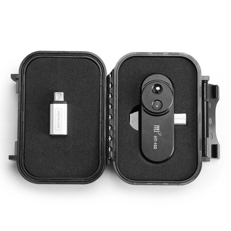 HT-120 téléphone portable externe infrarouge thermique imageur Android téléphone infrarouge caméra thermomètre OTG fonction avec adaptateur imageur - 5