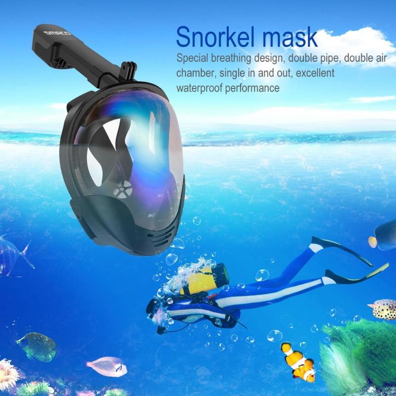 SMACO noir de qualité alimentaire Silicone + PC masque de plongée sous-marine natation masques de plongée pour Gopro caméra 2019 nouveauté