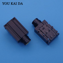 9-pin 6.35mm Stereo Audio Microphone Female Jack socket seat Connector 9 pin for KTV power amplifier TV etc MIC port 9P(China)