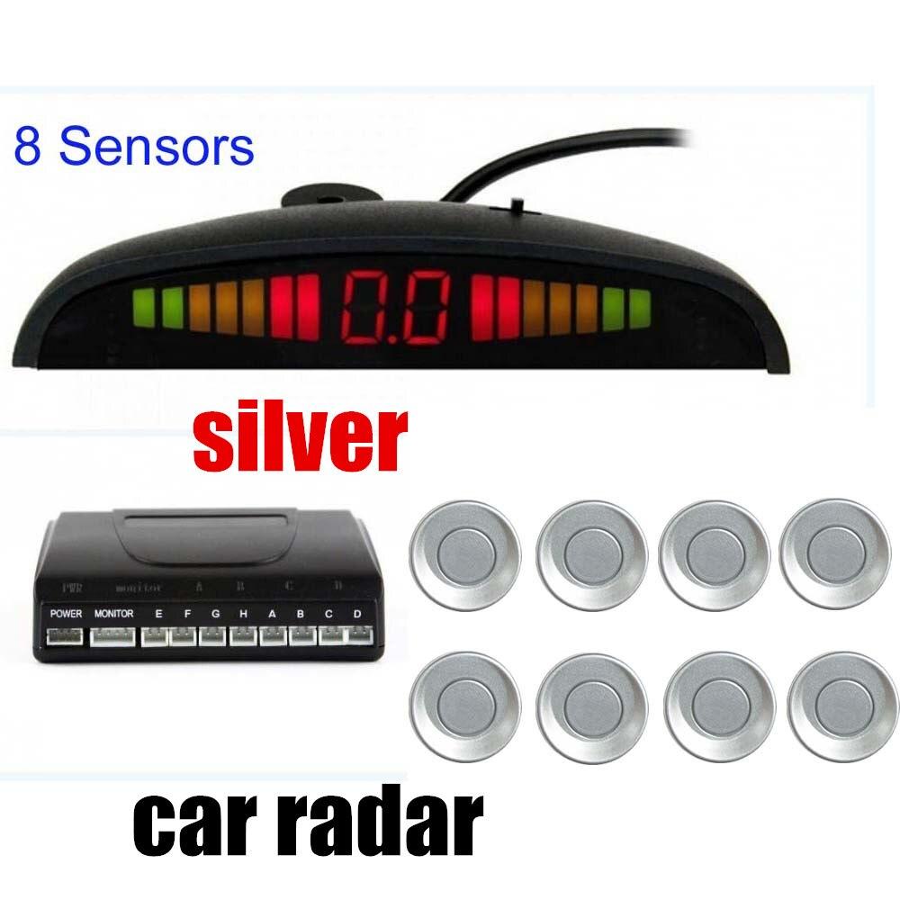 8 czujniki Radar monitor systemu 22.5mm 12V dla wszystkich samochodów alarm alarm BEBE głośno pomoc w odwrotnej LED parkowania samochodu zestaw czujników