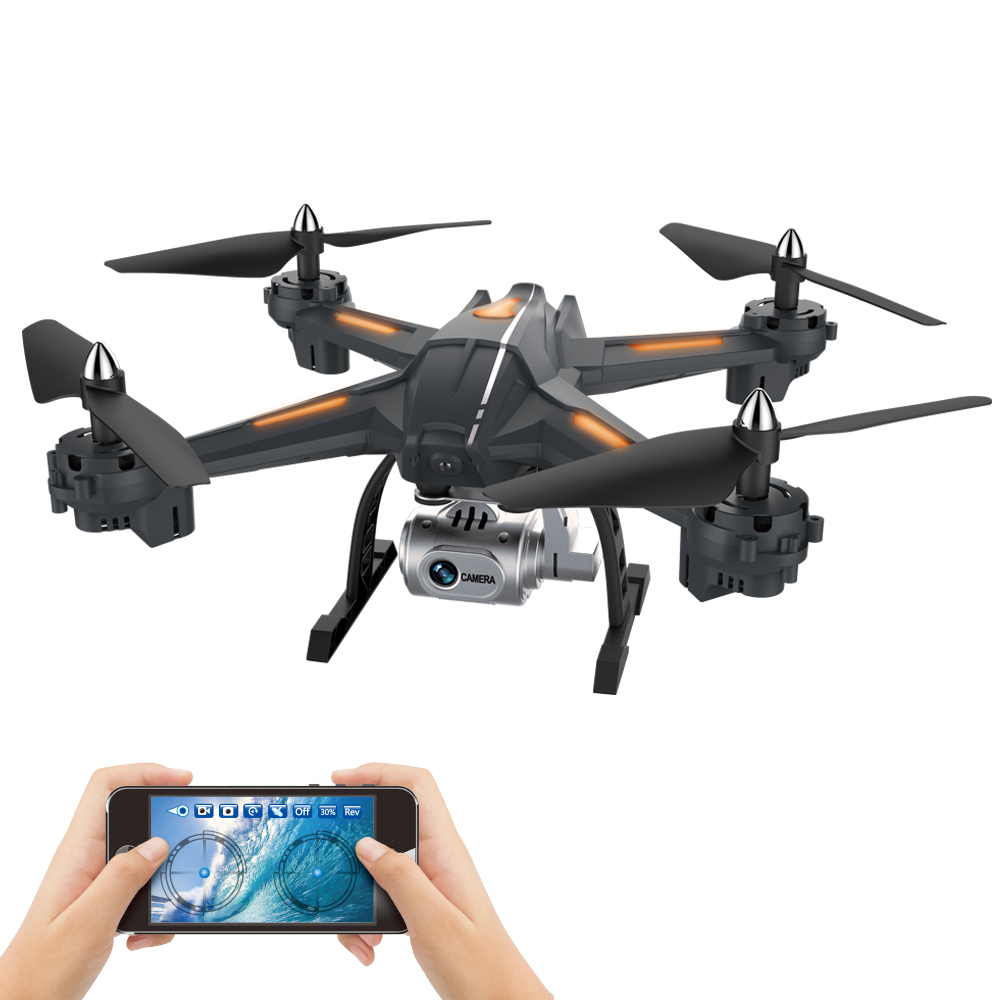 XYCQ-S5 WiFi FPV Drone With 720P Wide-Angle HD Camera Live Video RC Quadcopter With Altitude Hold, Gravity Sensor Functi