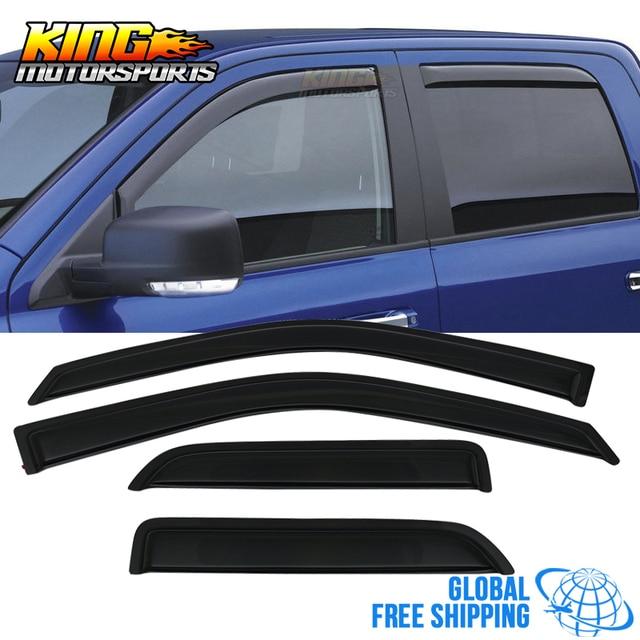 LARATH Fits 09-18 Dodge Ram 1500 Quad Cab Acrylic Window Visors 4Pc Set Global