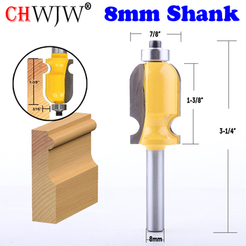 CHWJW 1PC 8mm Shank Architectural Molding Router Bit  Line knife Woodworking cutter Tenon Cutter for Woodworking Tools