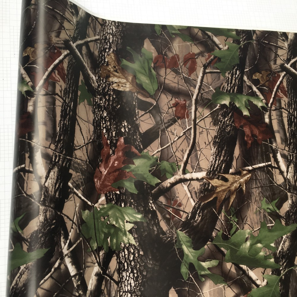Image 3 - 50*200cm Camouflage Car Wrap Real Camo Tree Vinyl Break up Jumbo Leaf Graphic PVC Car Styling Sticker Film Golf Cart Truck-in Car Stickers from Automobiles & Motorcycles