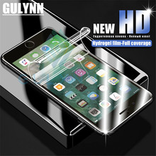 GULYNN Soft Full Cover Screen Protector For iPhone X XS MAX XR 10 6S Plus 3D Hydrogel Film 7 8 6s Not Glass