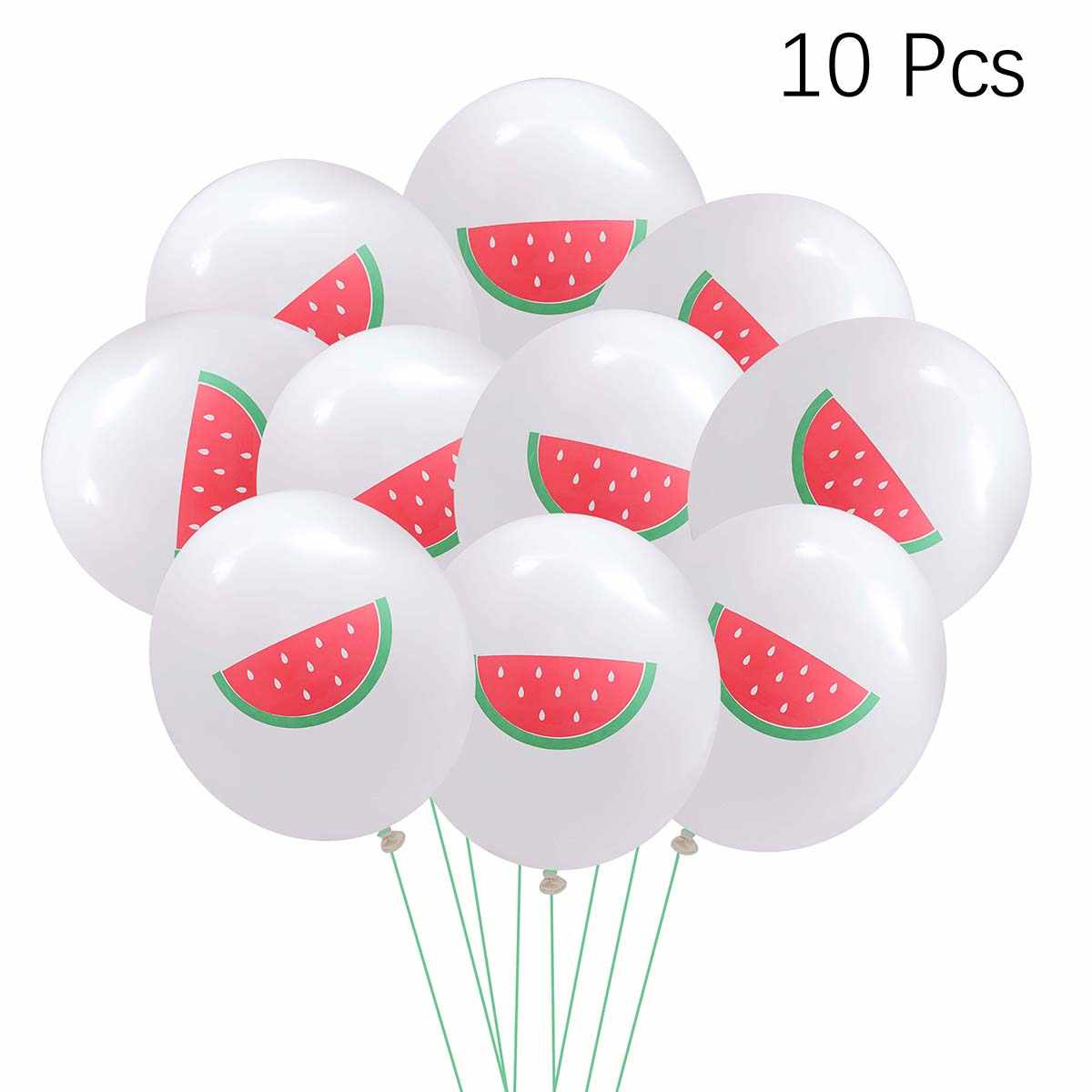10PCS Palloncini Estate Calda Luau Partito Forniture Anguria Frutta Rotonda Lattice Wedding Party di Compleanno Palloncino Palloncino Decorare