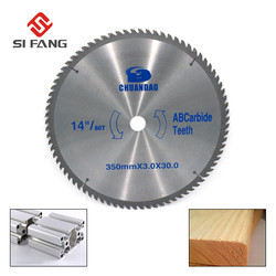 14 inch Circular Saw Blade Carbide Alloy Cutting Disc With 25.4mm Bore 80 Teeth For Aluminum and Non Ferrous Metals
