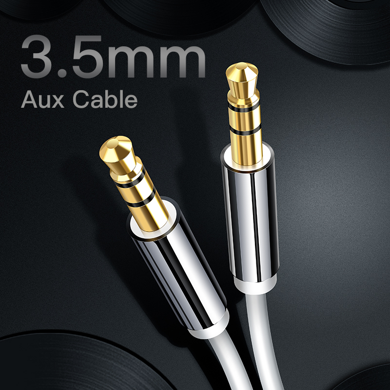 iHaitun 3.5mm Jack Aux Audio Cable 3.5 mm Male to Male Speaker Cable For iPhone 5 6 Xiaomi Redmi 4X Car Headphone Wire Cord MP3 Углеродное волокно