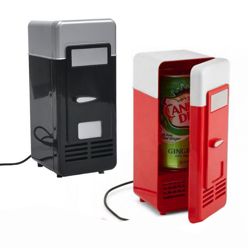 Mini Fridge Refrigerator Cooler Beverage-Cans Car USB Hot And Warmer With Internal Led-Light