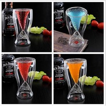 Gift Beauty Fishtail Not Cat Cup Double Wall Shot Glass for Wine Whisky Beer Tea champagne glasses Cofee Cups