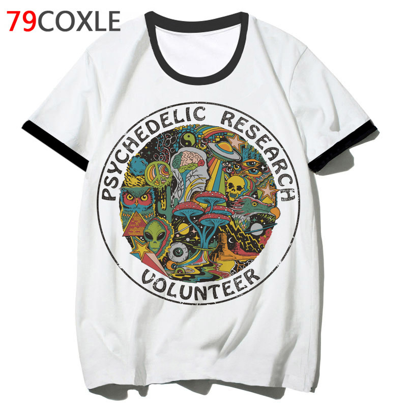 Psychedelic T Shirt Tee Hip Men 2019 Funny Tshirt Hop Clothing Male School For Harajuku T-shirt Top Streetwear F4582