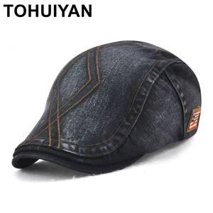 e2981bec556 TOHUIYAN Mens Newsboy Beret Visor Flat Caps Male Hats