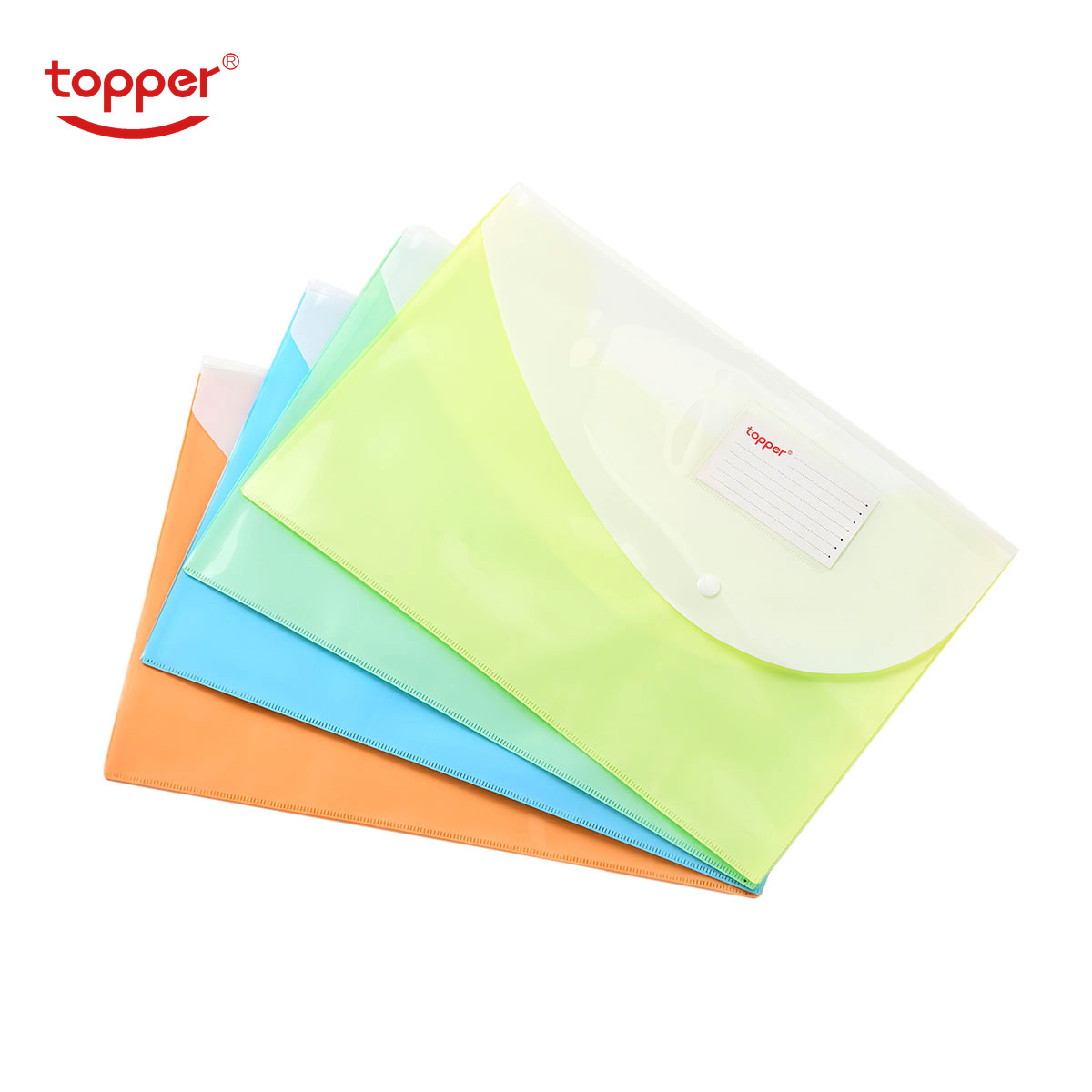 4pcs/set Freeshiping FC/A4 Size Transparent Double Layer Plastic Document Bag File Folders Filing Storage Office School Supplies