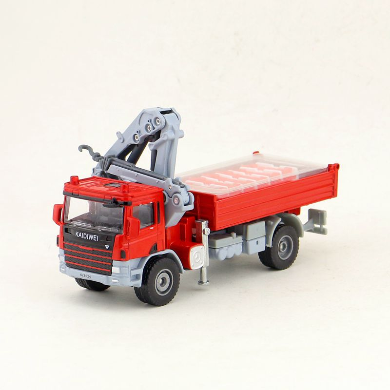 1:50 Scale/Engineering Diecast Model Toy Car/Truck Transport Vehicle with Crane Machine/Delicate Children's Gift/Collection image