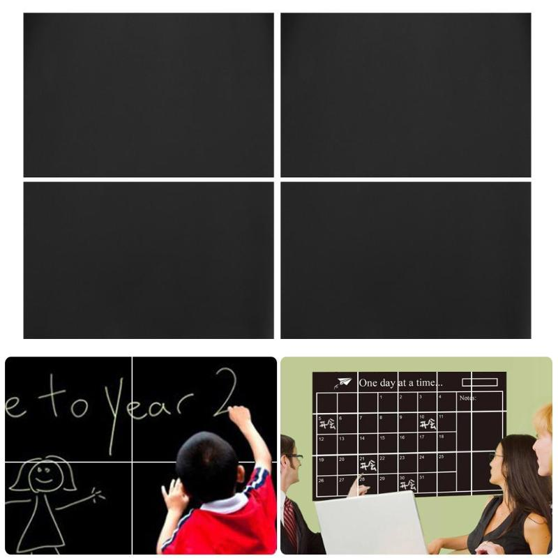 8Pcs Removable Blackboard Stickers Wall Decals Home Office Decorative Black Board Chalkboard Sticker Schook Supplies 30*20cm