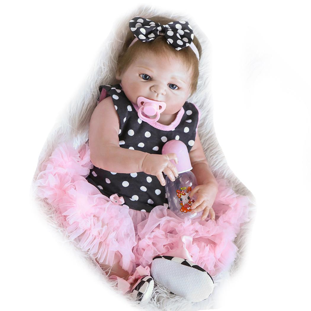 Kids Soft Silicone Realistic With Clothes Reborn Baby Collectibles, Gift, Playmate Opened Eyes 2-4Years DollKids Soft Silicone Realistic With Clothes Reborn Baby Collectibles, Gift, Playmate Opened Eyes 2-4Years Doll