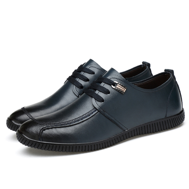 De Black Respirant Casual Pour Slip Lacent Nouveau black Hommes blue Automne Mode Richelieus On Cuir En Plat D'affaires On Printemps 2018 blue Chaussures dBWQCxore