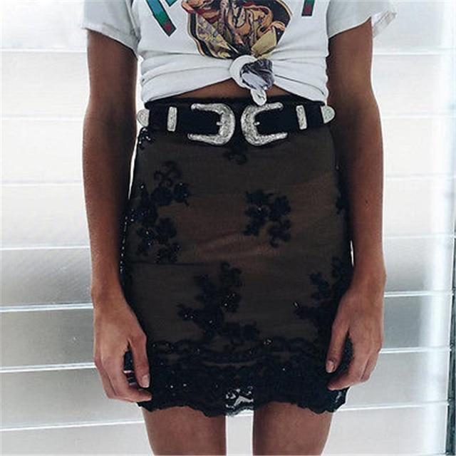 2018 Hot Fashion Women Lady Vintage Boho Metal Leather Punk Double Buckle Waist Belt Waistband high quality Belts Women Female Fashion & Designs Women's Belt Women's Fashion