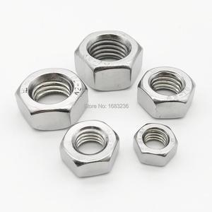 M1 M1.2 M1.4 M1.6 M2 M2.5 M3 M3.5 M4 M5 M6 M8 M10 M12 M14 M16 M18 M20 M22 M24 DIN934 A2-70 304 Stainless Steel Hex Hexagon Nut