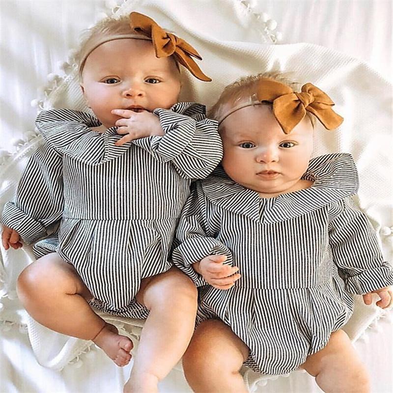 Newborn Toddler Baby Girls Long Sleeve Black and White ...