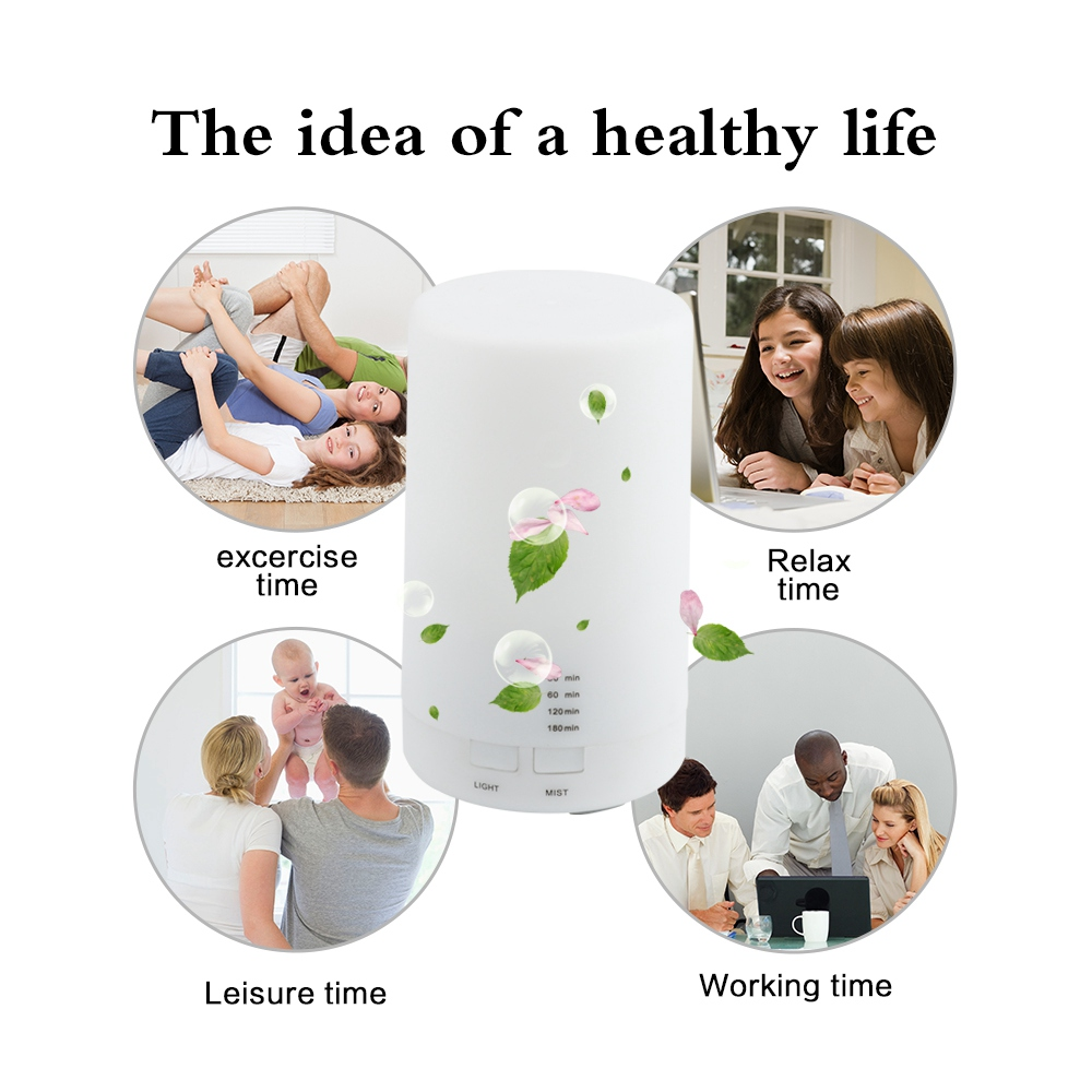 SANQ Air Ultrasonic Humidifier Usb Charging 7 Color Led Night Light Aromatherapy Essential Oil Aroma Diffuser Cold Mist Humidi