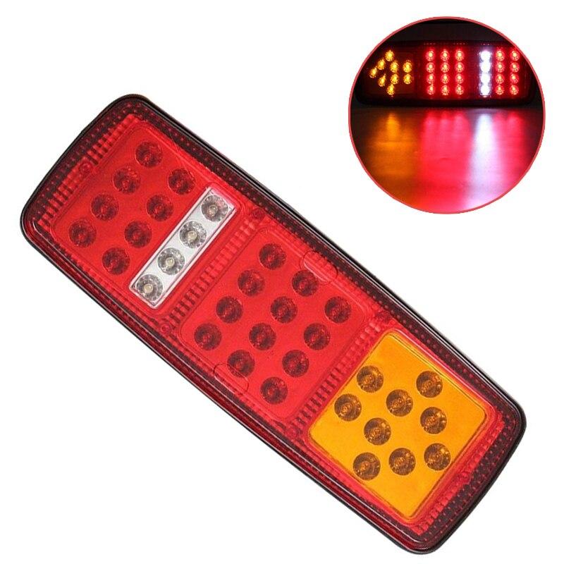 1 Pair 33 LED 12V Stop Brake Rear Tail Light Indicator Reverse Lamp Trailer Truck RV