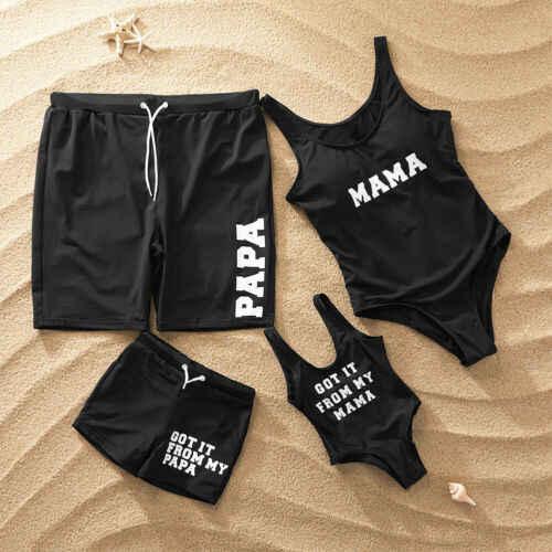 Roupa de banho feminina homem e mulher, moda feminina, pai e filho, maiô para combinar com a família, roupas de banho, menina e menino, 2020 traje de biquíni,