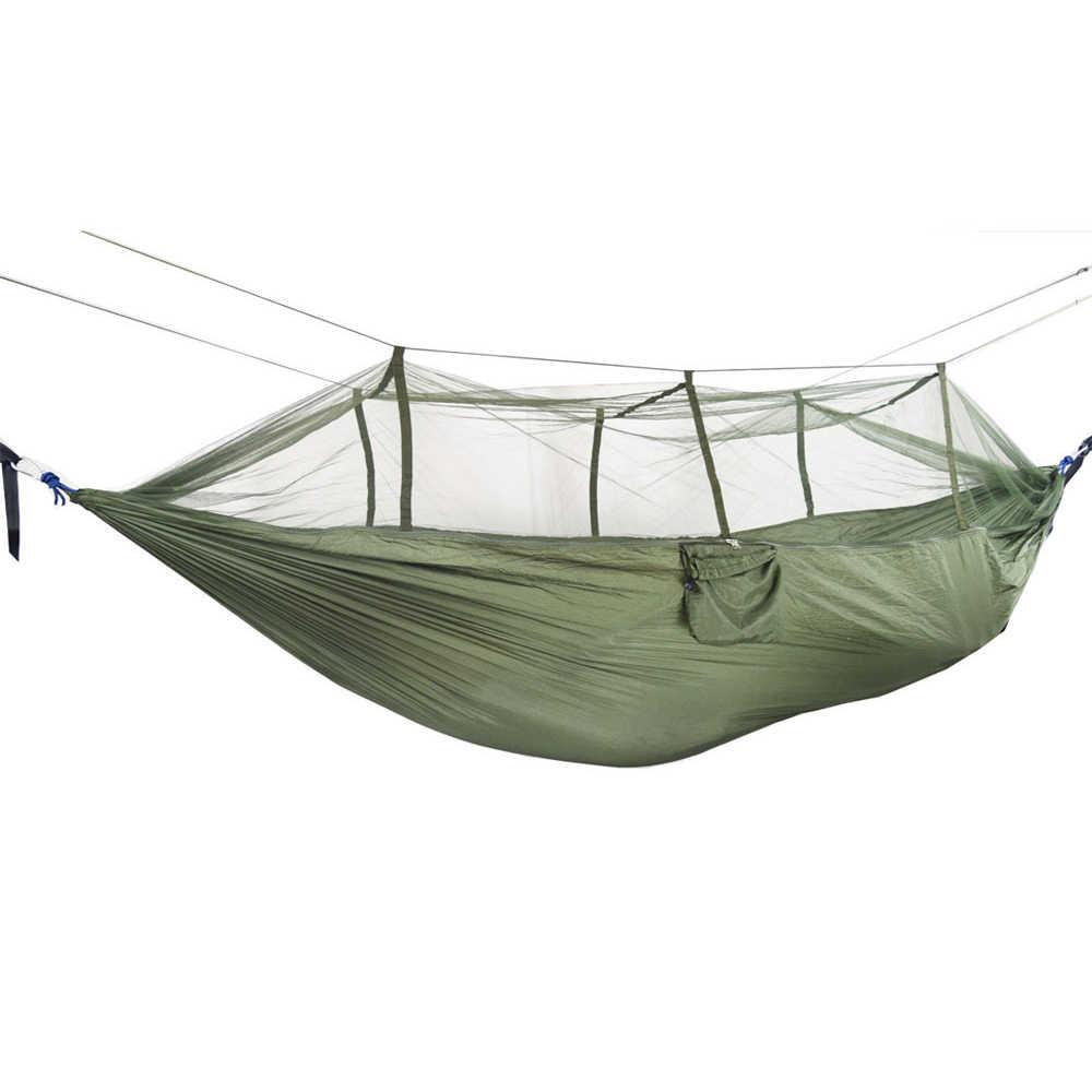 Легкий нейлоновый парашютный гамак уличный рюкзак Выживание Кемпинг гамак палатка путешествия портативный гамак с москитной сеткой