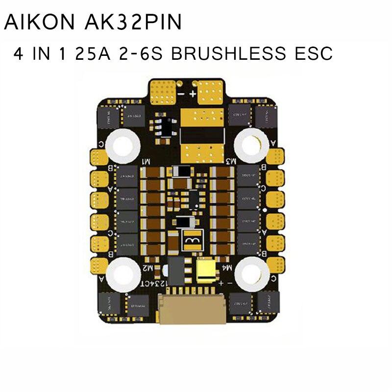 AIKON AK32PIN 4 في 1 25A 2 6 S Blheli_32 DSHOT1200 w/5 V/3A BEC فرش ESC ل RC نماذج الغيار جزء DIY جنسين-في قطع غيار وملحقات من الألعاب والهوايات على  مجموعة 1