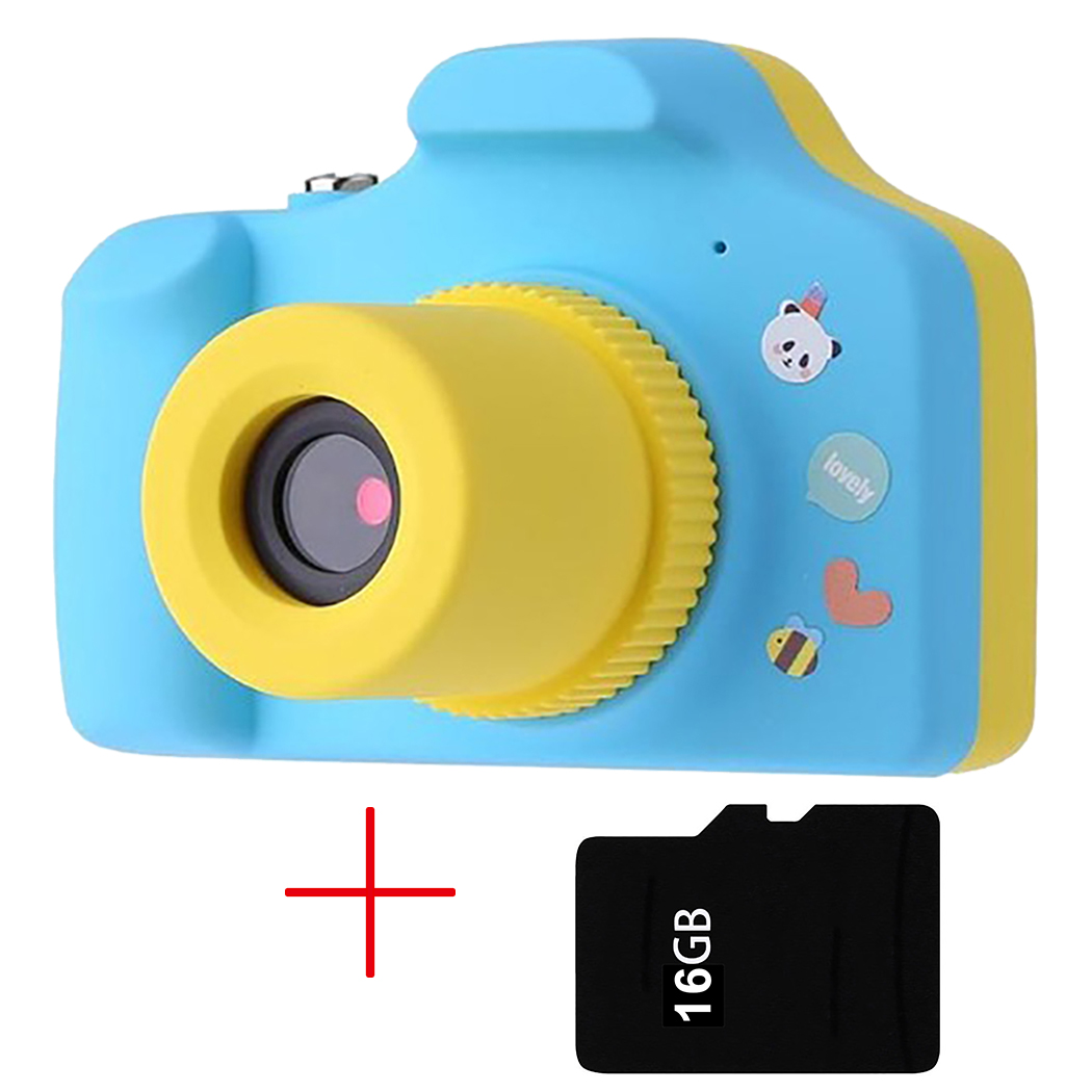 New Arrival Kid Free SD Card Electronic Cameras Toy Children Mini Digital 16G Fixed Lens 100 Degree Photo Camera Educational Toy