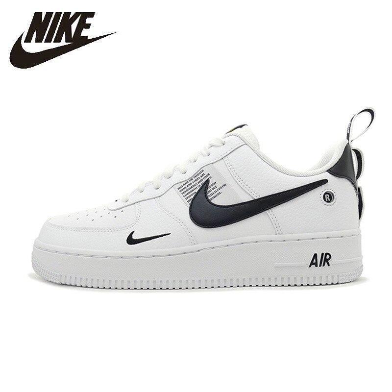 Nike officiel Air Force 1 respirant utilitaire hommes chaussures de course basse confortable baskets nouveauté # AJ7747
