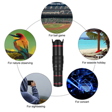 Portable Clip-on Phone Camera Lens Kit 22X Zoom Telephoto Lens Smartphone Lens Support Naked Eye Observation with Tripod