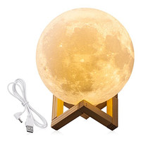 Lightme Moon Light 3D LED Printing Moon Lamp with USB Touch Control Lights Warm and Cool USB DC 5V White Night Light