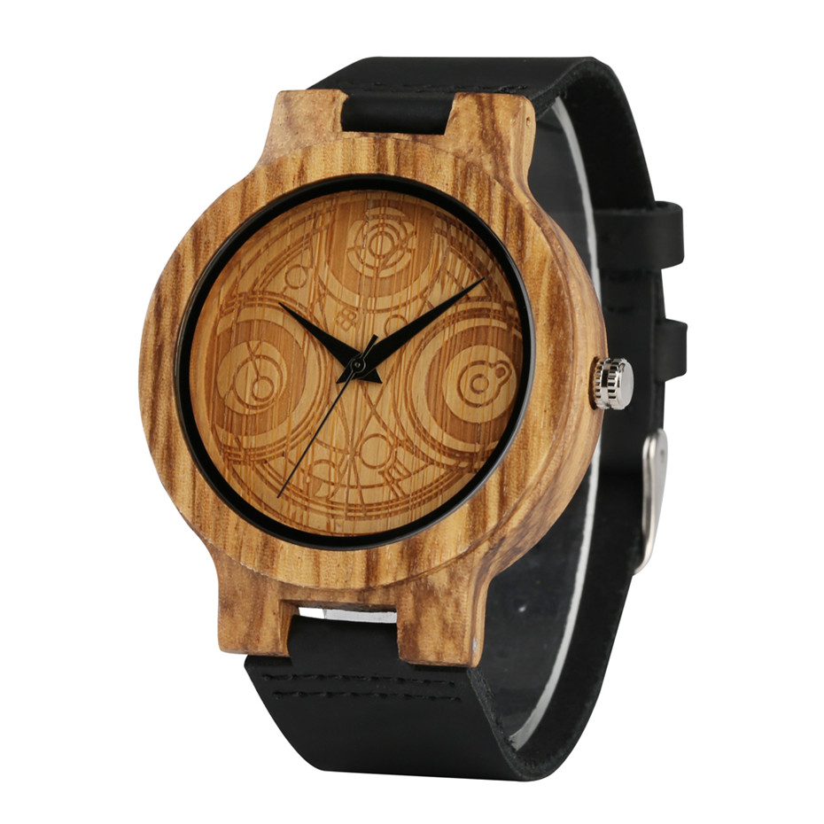 Watch Doctor Who Christmas Special 2019.Us 11 78 43 Off Doctor Who Nature Wood Watch Men Quartz Watches Casual Black Leather Band Man Wrist Watch Light Weight Wooden Clock 2019 New In