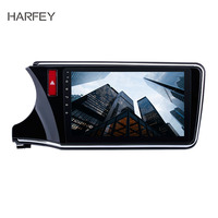 Harfey for 2014 2015 2016 2017 Honda CITY Left Radio Android 8.1 10.1inch GPS support WIFI Bluetooth Audio system HD Touchscreen