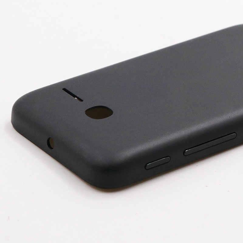 3.5 インチアルカテル pixi 3 (3.5) 4022D 4009 メートル 4009X バッテリーカバー 100% 新しいの耐久性携帯電話アクセサリーアンチノック