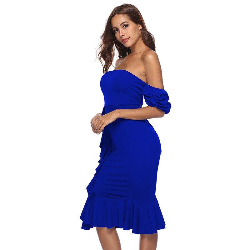 ff9b26e5a2 Mujer Black Tirantes Tamaño Patchwork gules Vestidos Espalda Sin Moda De  Ropa Muxu Vestido blue Plus ...