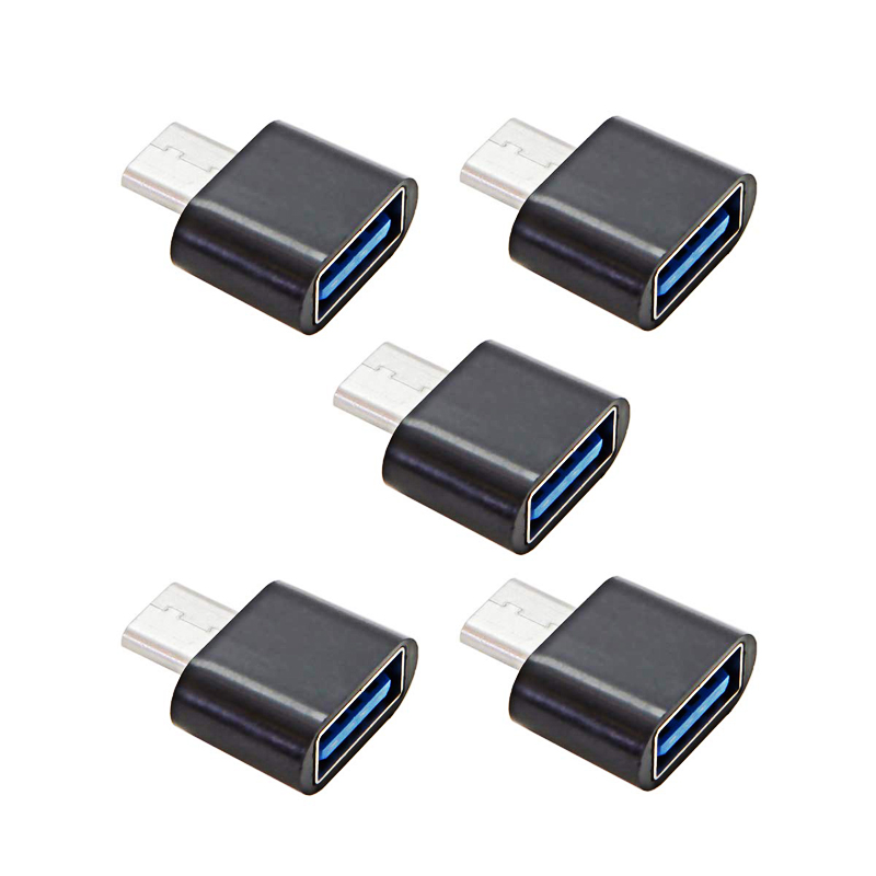 5pcs/set Type C To USB 2.0 OTG Adapter Male To Female For Cell Smart Phone Tablet Flash U Disk Mouse